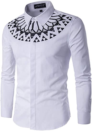 Mr.BaoLong&Miss.GO Otoño E Invierno Camisas De Talla Grande para Hombres Camisas Estampadas De Manga Larga para Hombres Tops Casuales para Hombres: Amazon.es: Ropa y accesorios