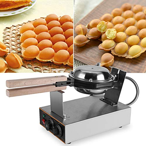 Cocoarm Egg Waffle Maker,Stainless Steel Rotated Nonstick Electric Egg Cake Oven Puff Bread Maker Bake Machine