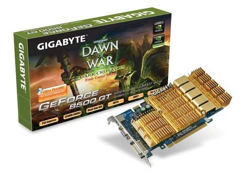 GIGABYTE GV-NX85T256H 8500GT 128bit 500Mhz vs Std 450Mhz DDR II 256MB HDTV Video Card (8500gt Video Card)