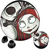 00 gauges Nightmare Before Christmas Jack Sally Ear Plugs Steel Flesh Tunnels Double Flare Expander Stretcher Taper Merry Christmas X'Mas 00g 10mm