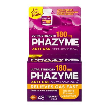 Phazyme Ultra Strength Softgel 180 Mg, 48 Fast Gels-Relieves Gas Fast-Relieves Bloating, Discomfort and Pressure (Pack of 5) ICeV$D