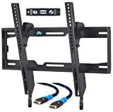 Mounting Dream MD2268-MK TV Wall Mount Tilting Bracket for Most 26-55 Inch LED, LCD and Plasma TVs up to VESA 400 x 400mm and 100 LBS Loading Capacity, 6 FT HDMI Cable and Torpedo Level (Electronics)