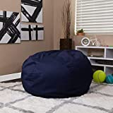 Flash Furniture Oversized Solid Navy Blue Bean