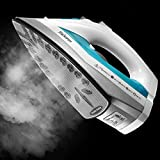 Yabano Steam Iron, Professional Iron for Variable Clothes Fabric, Anti-Drip, Anti-Calc, Variable Temperature and Steam Control, Iron with Large Water Tank, Lightweight, Teal