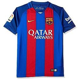 Nike FC Barcelona YTH SS HM Stadium JSY, T-Shirt à Manches Courtes pour Enfant