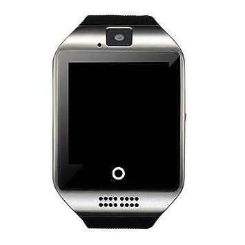 JSGJSH 2018 Pulsera Inteligente Bluetooth Reloj Inteligente Smartwatch Q18 teléfono Android Llamada Relogio 2G gsm SIM