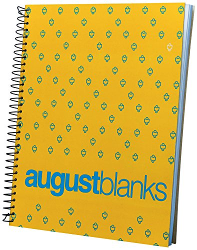 August blanks Spiral Subject Notebook, Single, Yellow (compyellow2017)
