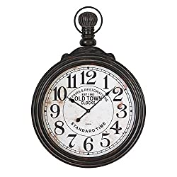 Deco 79 52107 Wood Wall Clock, 39x28