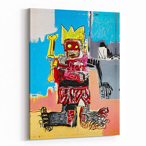 Pop Art King Untitled Jean Michel Basquiat Giclee Poster Print Paintings Reproduction Fine Art Canvas 1079 ()