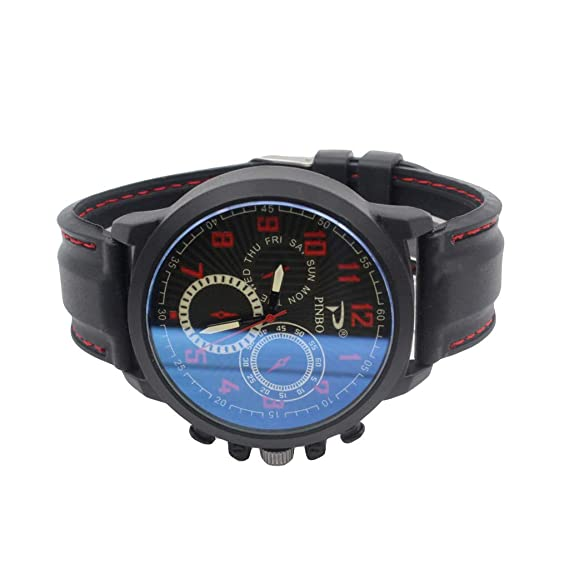 Amazon.com : XBKPLO Mens Quartz Watch, Analog Six-Needle Wrist Leisure Sport Concise Watches Large Dial Mechanical, Silicone Strap : Pet Supplies