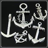 JulieWang-50pcs-Mixed-Vintage-Ramdon-Silver-Alloy-Anchors-Charms-Pendants-Jewelry
