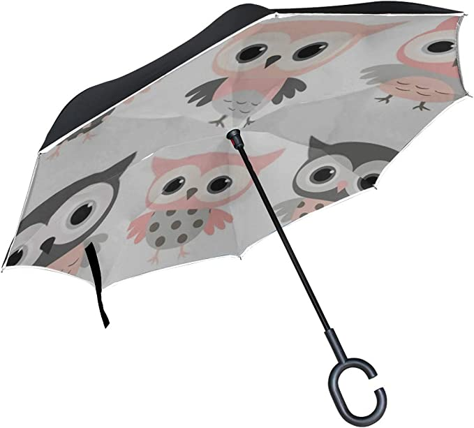 Double Layer Inverted Inverted Umbrella Is Light And Sturdy Cute White Cartoon Rabbit Character Little Reverse Umbrella And Windproof Umbrella Edge N