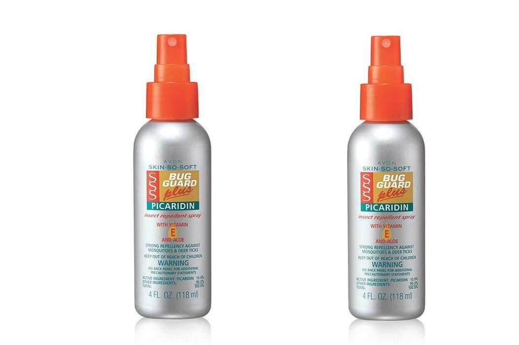 LOT OF 2 Avon Skin-So-Soft Bug Guard Plus Picaridin With Vitamin-E & Aloe Spray Pump 4oz