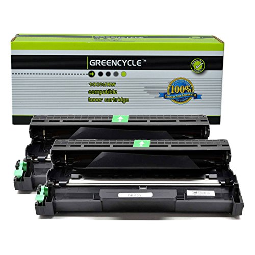 GREENCYCLE 2 Pack Replacement Drum Unit for Brother DR420 Black Drum use in Brother HL2130, HL2132, HL2220, HL2230, HL2240, HL 2240 HL2240D, HL2240DW (1 Pack)