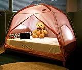 TQUAD Floorless Indoor Privacy Tent on Bed for Insulation Warm Sleep in Drafty Room Saves on Heating bills (Medium, Pink)