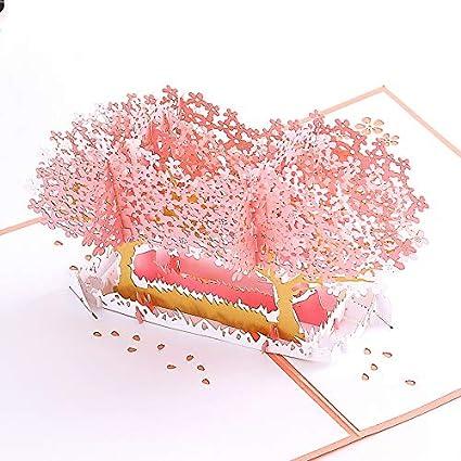 3D Pop up Tarjetas y Sobres/Tarjeta de felicitación desplegable para cumpleaños/Navidad/Año Nuevo/Dia de la madre/aniversario/San ...