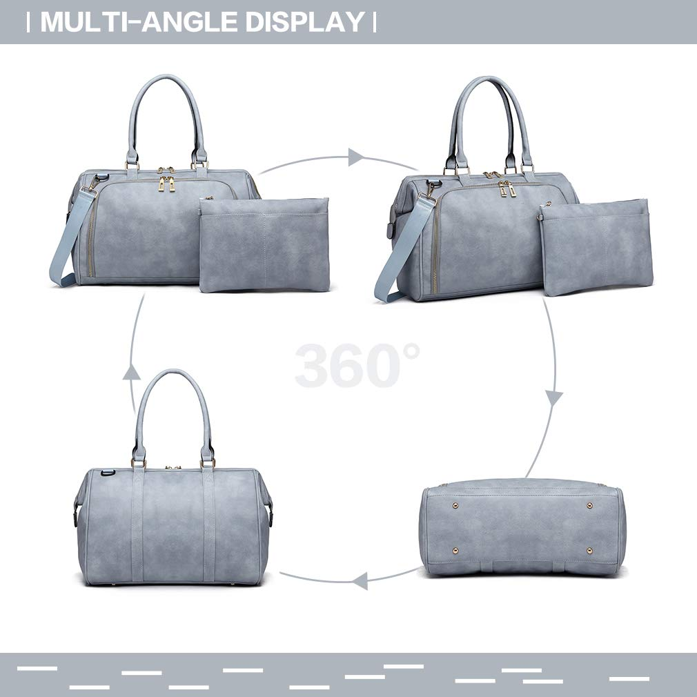 Miss Lulu Large Upgraded Nappy Changing Bags Fashion Handbags with Changing Mat and Insulated Pocket for Dad /& Mum Baby Changing Bags Blue