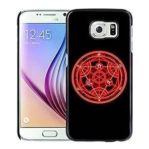 Fashionable Custom Designed Skin Case For Samsung Galaxy S6 With Fullmetal Alchemist Black Phone Case