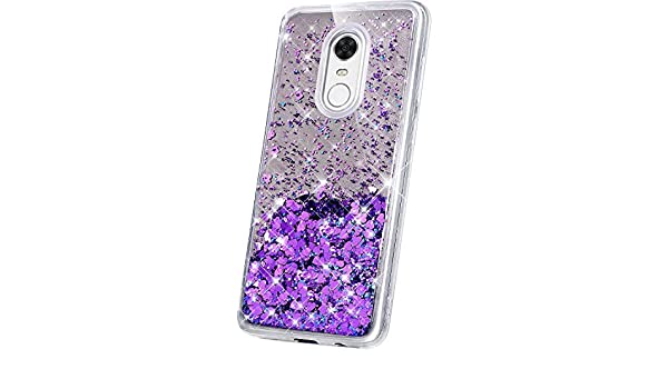 JAWSEU Funda Brillante Compatible con Xiaomi Redmi 5 Plus, Brillo ...