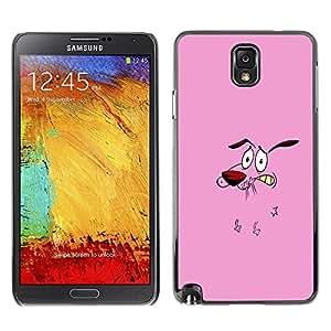 Be Good Phone Accessory // Dura Cáscara cubierta Protectora Caso Carcasa Funda de Protección para Samsung Note 3 N9000 N9002 N9005 // Dog Pink Face Cartoon Character Animation