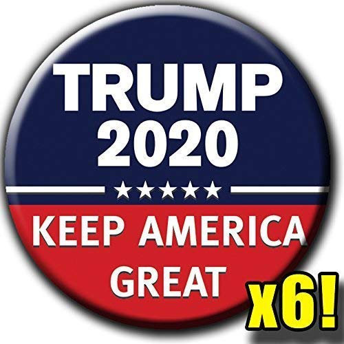 - Trump 2020 Keep America Great 2.25 Inch 6-Button Rally Pack - Republican Campaign Pin - Gop Political Badge