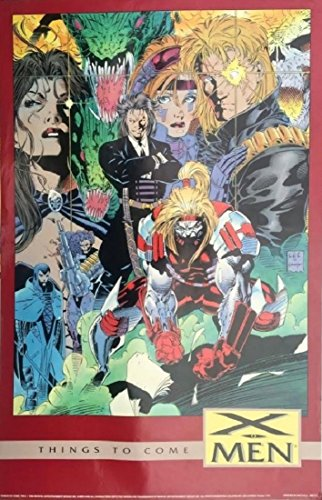 1992 Marvel Comics X-men Things To Come Vintage Poster By Jim Lee 22 X 34 Inches