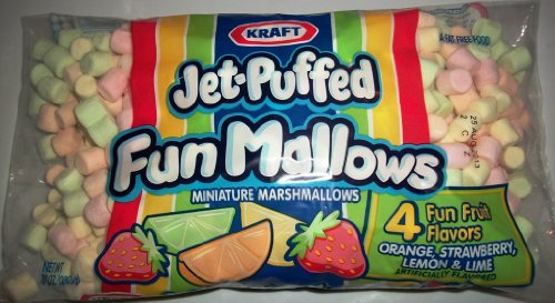 Kraft Jet-Puffed Mini Fun Mallows 10 Oz Bag - Flavored Marshmallows