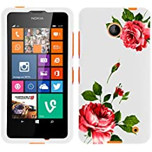 MINITURTLE, Slim Fit Graphic Design Image 2 Piece Snap On Protector Hard Phone Case Cover, Stylus Pen, and Clear Screen Protector Film for Prepaid Windows Smartphone Nokia Lumia 635 from /AT&T, /T Mobile, /MetroPCS (Affectionate Flowers)
