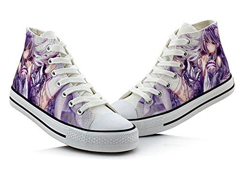 Re: Zero Life In Een Andere Wereld Canvas Schoenen Cosplay Schoenen Sneakers Kleurrijke Colorful4