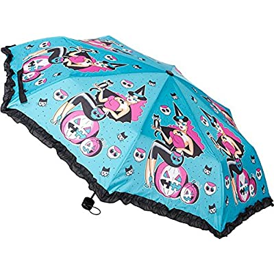 0b5cf256c144 hot sale Witchy Lady Halloween Pinup Umbrella - Extends to 21 ...