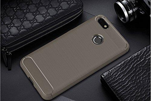 Funda Huawei Enjoy 7,Funda Fibra de carbono Alta Calidad Anti-Rasguño y Resistente Huellas Dactilares Totalmente Protectora Caso de Cuero Cover Case Adecuado para el Huawei Enjoy 7 B