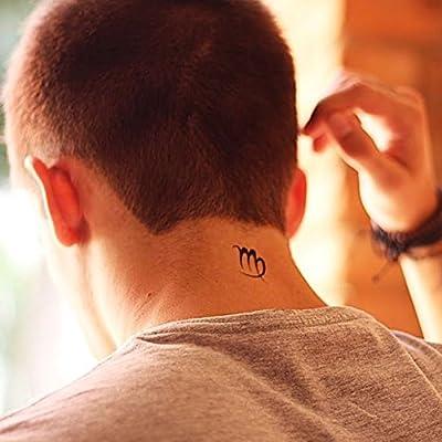 Tatuaje Temporal de Símbolo de virgo (2 Piezas) - www.ohmytat.com ...