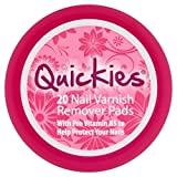 Quickies Nail Varnish Remover Pads, 20 Pads