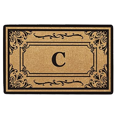 Creative Accents Heavy Duty Coco Georgetown Doormat, 18 by 30-Inch, Monogrammed C