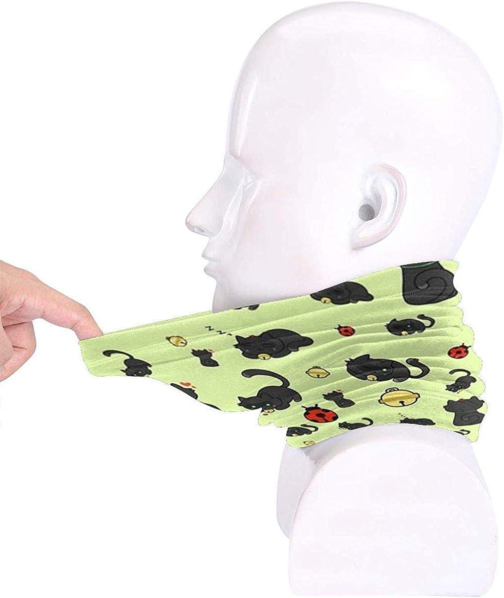 Ladybug And The Cat Microfiber Neck Warmer Balaclavas Soft Fleece Headwear Face Scarf Mask For Winter