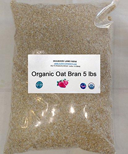 Oat Bran, 80 Ounces or 5 Pounds USDA Certified Organic, Non-GMO Bulk