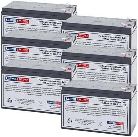 Compatible Battery Set for Xtreme Power Conversion XPRT-2000 UPS by UPSBatteryCenter 6 12V 7.2Ah F2