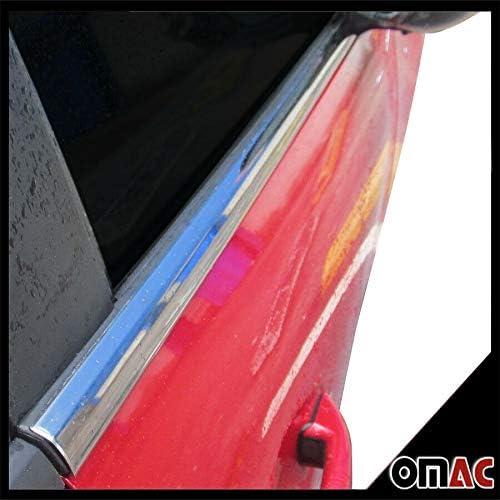 set di 4 cornici inferiori cromate per i finestrini in acciaio inox 18//10 OMAC