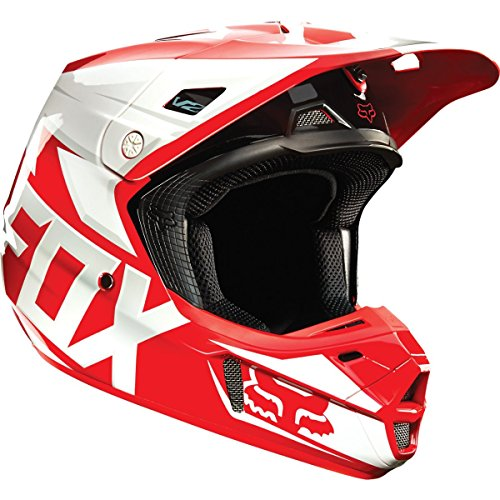 Fox Racing Race Men's V2 Motocross Motorcycle Helmet - Red/Large (Fox V2 Race)