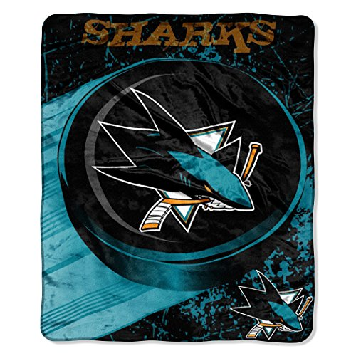 The Northwest Company Officially Licensed NHL San Jose Sharks Break Away Micro Raschel Throw Blanket, 46