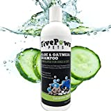 Dry Skin Dog Shampoo Hypoallergenic, Soap Free, Oatmeal Dog Shampoo. Helps Dry Flaky Skin. Relieves Flaky Itchy Skin- Infused with Natural Cucumber & Melon Essence Scent! Great for Cats & Horses too!