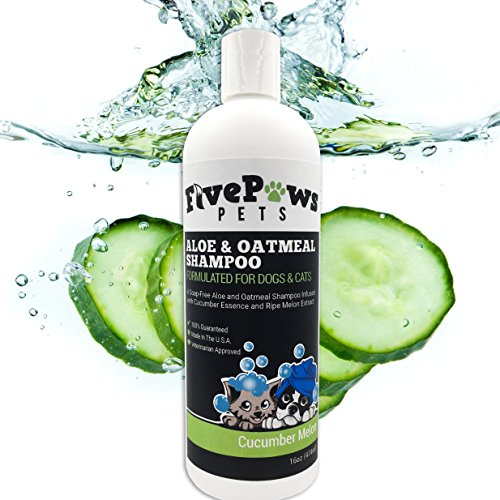 Soap Free Aloe and Oatmeal Hypoallergenic Pet Shampoo, Relieves Dry...