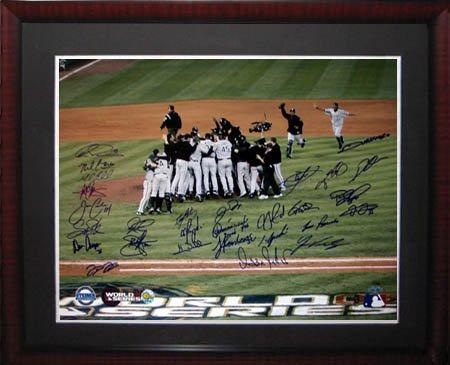 World Series Ticket Frame - 2005 Chicago White Sox World Series Championship Team Steiner Framed Photo-16x20