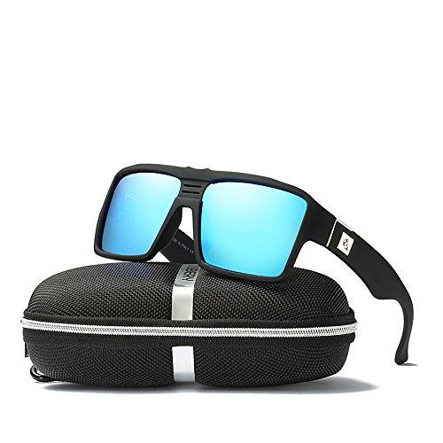 DUBERY Men Polarized Sunglasses Outdoor Driving Square Sport Fashion Glasses