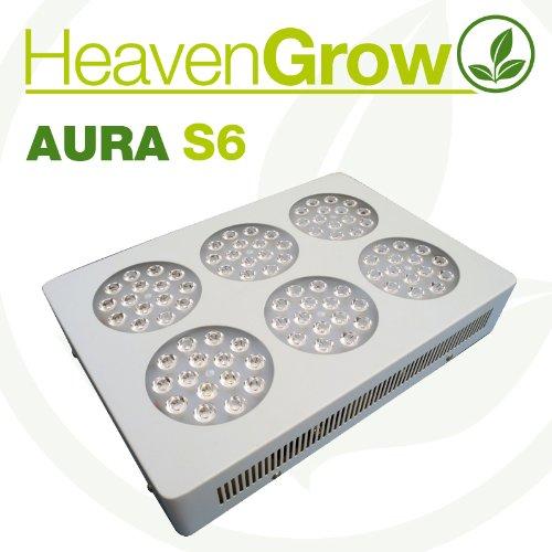 Lámpara LED Aura S6 Heaven Grow Grow Light 136 W 6 Bandas Cultivo ...