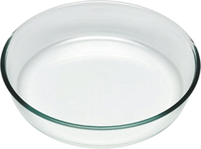 Pyrex Classic Molde Vidrio para Tarta, borosilicato, 25 cm