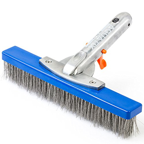 (Aquatix Pro Heavy Duty Pool Brush, Durable 10