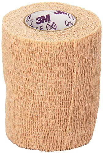 3M™ Coban™ LF Latex Free Self-Adherent Wrap with Hand Tear, 3 in. x 5 yd./75 mm x 4.5 m, Tan, 1 rolls/case