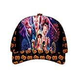 FKDBLZY Stran-ger Thin-gs Halloween Hat Adjustable Baseball Cap Unisex Black