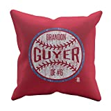 500 LEVEL's Brandon Guyer Soft And Comfortable Throw Pillow For Cleveland Baseball Fans - Brandon Guyer Ball W
